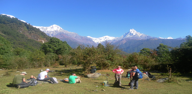 Annapurna and Machhapuchhre mountains -  himaland.com