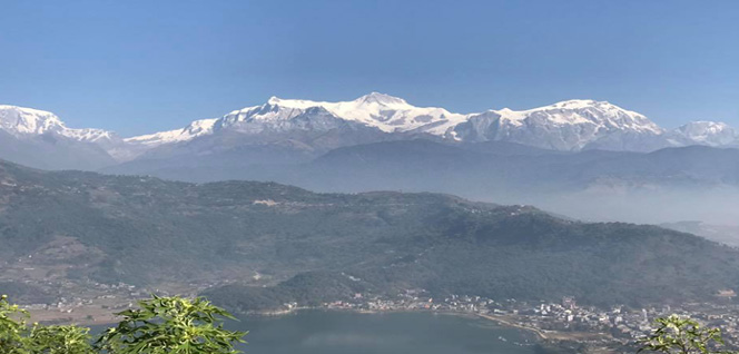 Overlooking at Pokhara Valley -  himaland.com