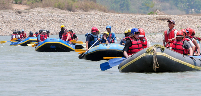 Rafting on Sunkoshi River -  himaland.com