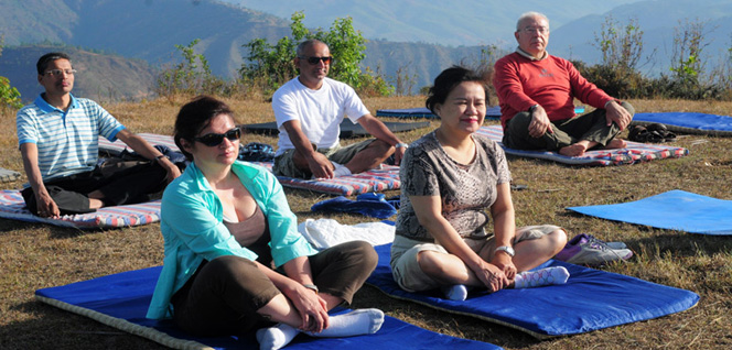 Morning Meditation on Hilltop Ground -  himaland.com