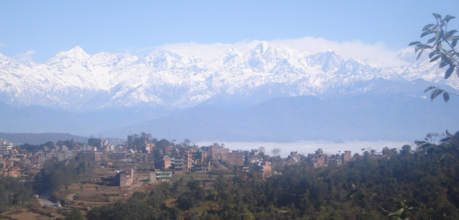 Dhulikhel with Himalayan Background -  himaland.com
