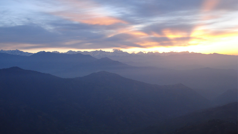 Sunrise Over the Himalayan Horizon -  himaland.com